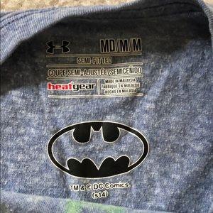 Under Armour Tops - Under Armour blue Batman tee medium